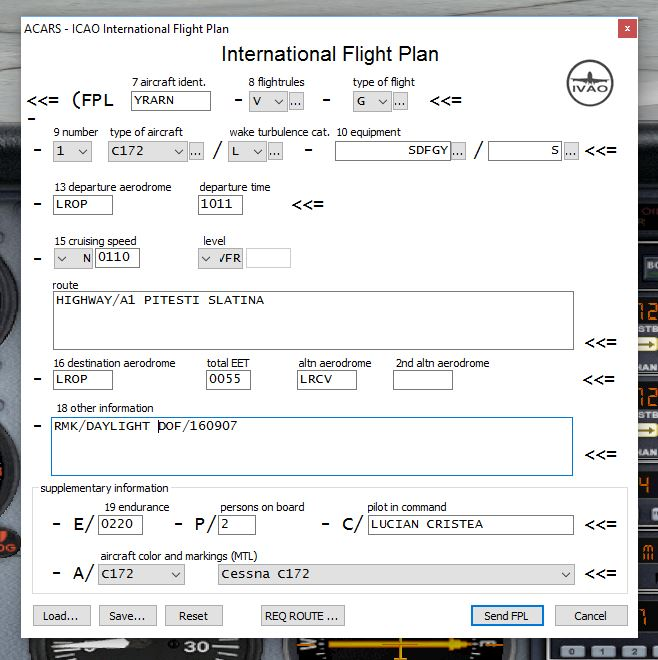 Flight Plan - VFR